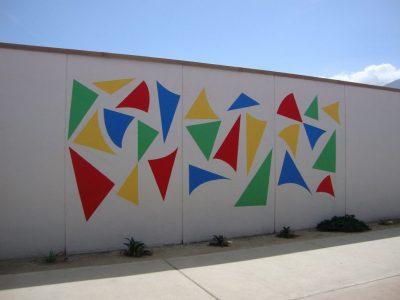 Geometric Flag Mural